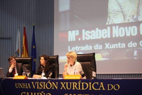 María Isabel Novo Castro, letrada da Xunta de Galicia  - Congreso sobre Unha Visión Xuridica do Camiño de Santiago